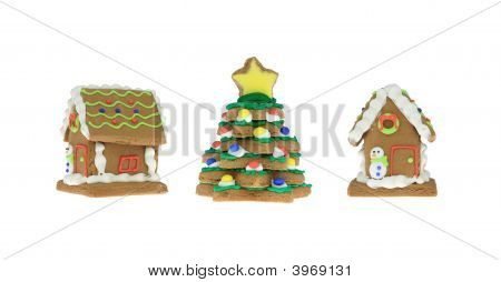 Gingerbread Houses And Tree