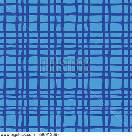 Blue Hand Drawn Plaid For The Home