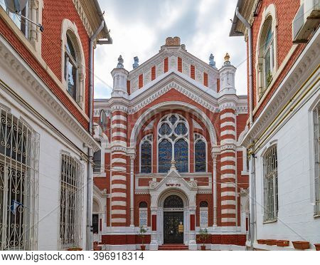 Brasov, Romania - July 12, 2020: The Beth Israel Neological Synagogue, Stands At 29 Poarta Șchei Str