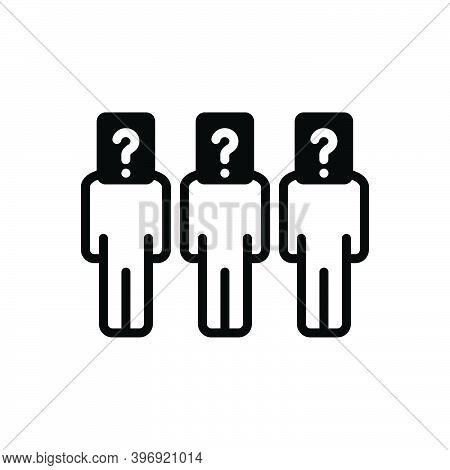 Black Solid Icon For Respondent Defendant Remonstrant Prisoner Question Who What Unknown