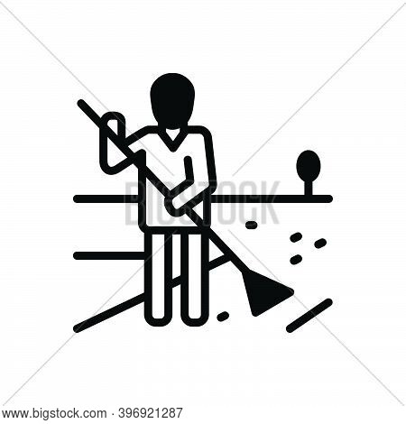 Black Solid Icon For Responsibility Amenableness Authority Management Sweeper Swabber Obligation Kee