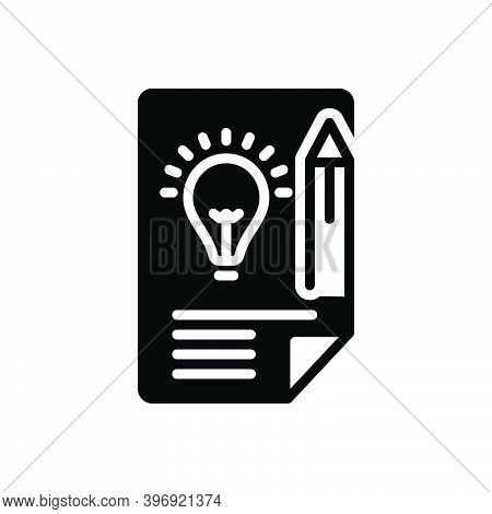 Black Solid Icon For Brief Short Pithy Concise Abbreviated Succinct Summary Terse