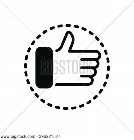 Black Solid Icon For Totally Completely Absolutely Entirely Thumb Ok All-right Agreed Satisfactory V