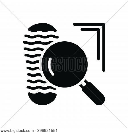 Black Solid Icon For Clue Proof Confirmation Mystery Footprint Suspect Evidence Investigate Testimon