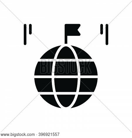 Black Solid Icon For Country Land Global Province Realm Field Region Zone Flag Kingdom Homeland Nati