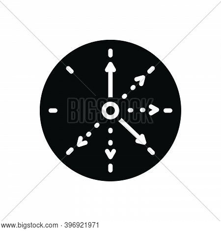 Black Solid Icon For Frequent Repeat Continual Always Regular Steady Circle