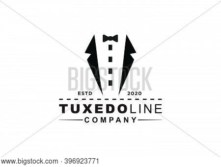 Symbol Design Tuxedo Ribbon Line Symbol Inspiration Design