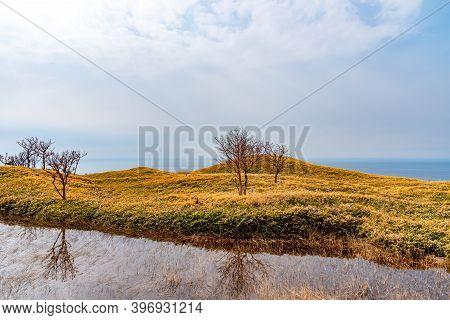 Shiretoko Goko Five Lakes Area. Woodland In High Latitude Country Springtime. Shiretoko National Par