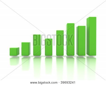 Business Finance Green Graph