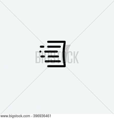 Document Linear Style Vector Logo Concept. Page Isolated Icon On White Background. Automatically Web