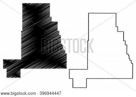 Golden Valley County, Montana (u.s. County, United States Of America, Usa, U.s., Us) Map Vector Illu