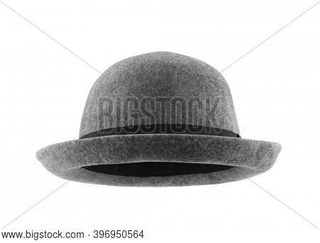 Gray hat isolated on white background with clipping path