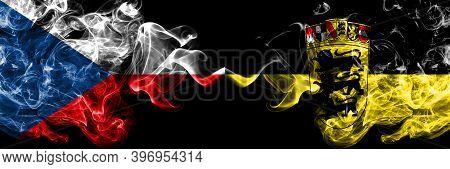 Czech Republic, Czech Vs Germany, German, Deutschland, Baden Wurttemberg Smoky Mystic Flags Placed S