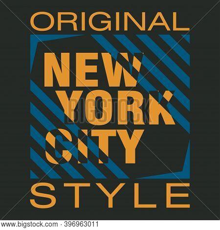 New York Typography, Design Graphic, T-shirt Printing Man Nyc