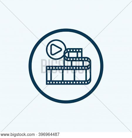 Movie Icon Isolated On White Background From Photography Collection. Movie Icon Trendy And Modern Mo