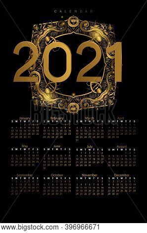 2021. Happy New Years 2021 Illustration Card. Happy New Years 2021 Greeting Card Design Concept. 202