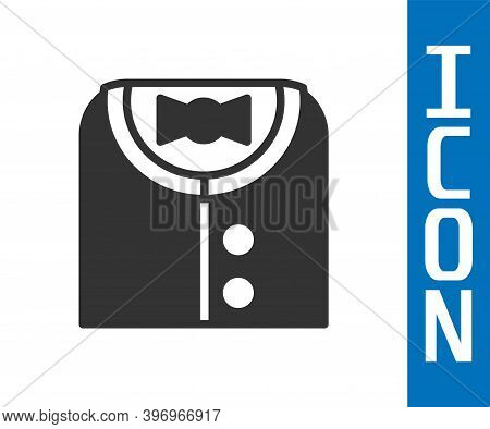 Grey Suit Icon Isolated On White Background. Tuxedo. Wedding Suits With Necktie. Vector