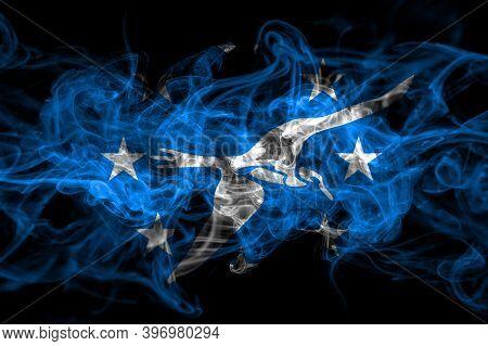 United States Of America, America, Us, Usa, American, Corpus Christi, Texas Smoke Flag Isolated On B