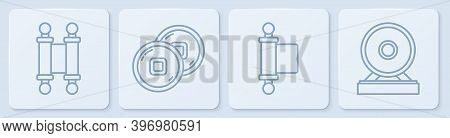 Set Line Decree, Paper, Parchment, Scroll, Decree, Paper, Parchment, Scroll, Chinese Yuan Currency A