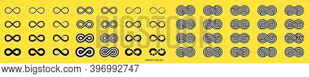 Infinity Icon Set. Infinity, Eternity, Infinite, Endless, Loop Symbols. Unlimited Infinity Collectio