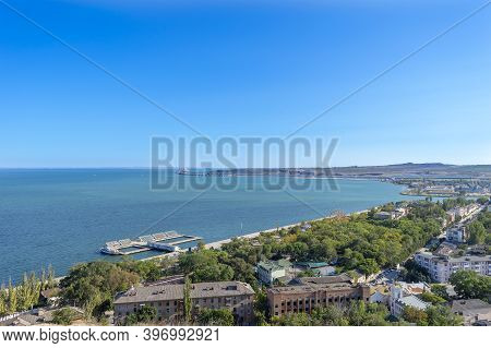 Kerch, Crimea - September 16, 2020: Panorama Of Kerch, Crimea. There Are Park Of Attractions And Res