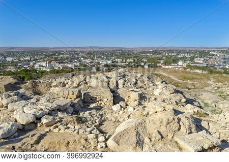 Kerch, Crimea - September 16, 2020: Kerch, Crimea. Ruins Of The Ancient City Of Pantikapaion On The