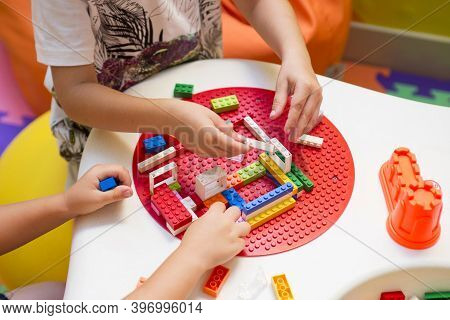 Two Child Playing Together, Build From The Constructor
