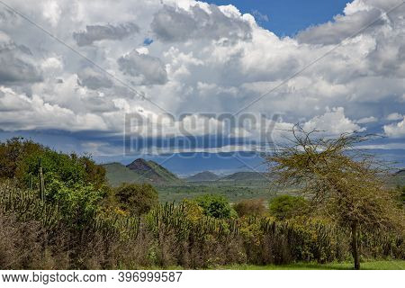 Hills Near Lake Nakuru In The Great Rift Valley, Kenya, Africa