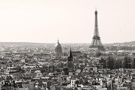 Paris city in Black and White