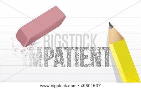 Erase Impatience Illustration Design Concept