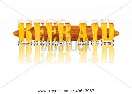 BEER ALPHABET letters BEER AID