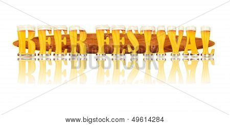 BEER ALPHABET letters BEER FESTIVAL