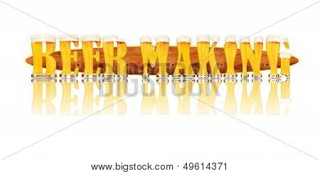 BEER ALPHABET letters BEER MAKING