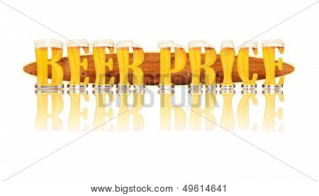 BEER ALPHABET letters BEER PRICE