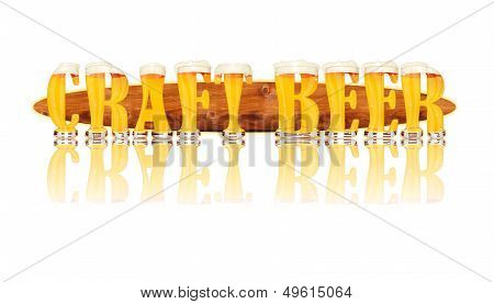 BEER ALPHABET letters CRAFT BEER
