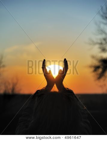 Sunset In Hands