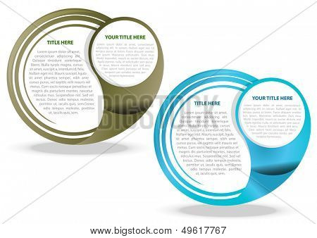 Two color vector abstract background for text