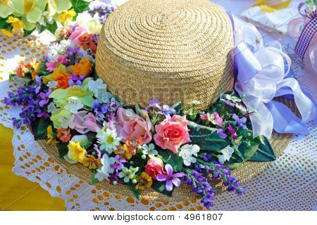 Summer Hat On A Summer Table