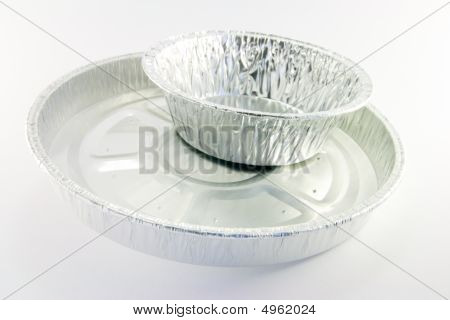 Two Round Catering Trays