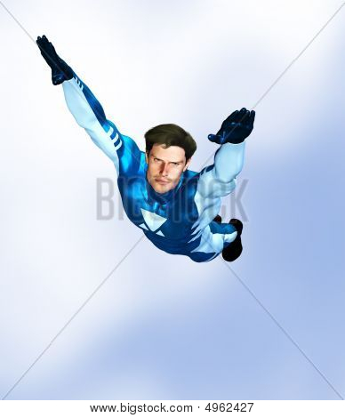 Superhero Male Flying