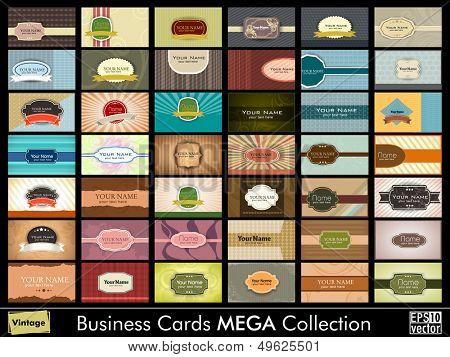 Vintage  Business Cards set. Vector Illustration in Eps 10 format.easy to edit poster