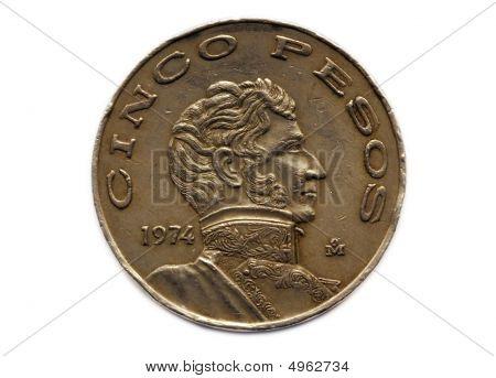 Cinco Peso Coin
