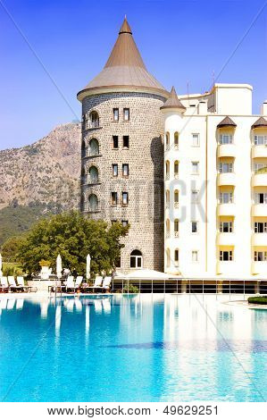 beautiful romantic hotel-castle with swimpool