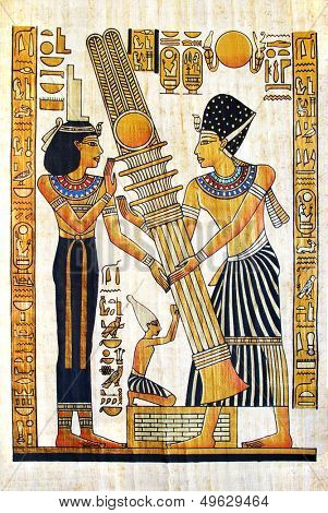 beautiful egyptian papyrus