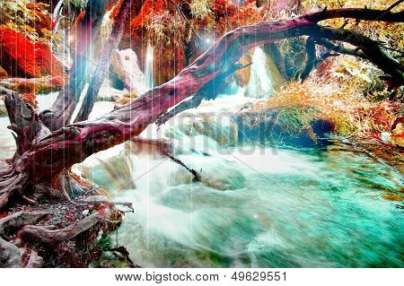 mysterious river - artistic picture in fantasy style