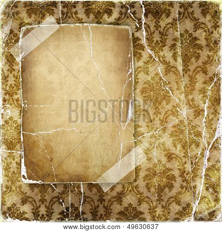vintage torn background with blank page