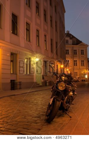 Old Town Of Riga At Night