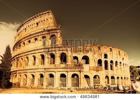 Colosseum  - italian landmarks series-artistic toned picture
