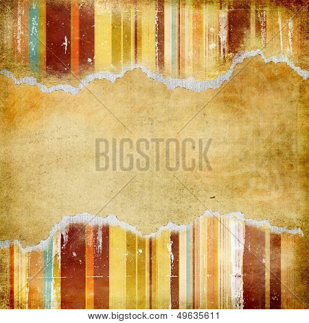 abstract vintage background with torn borders