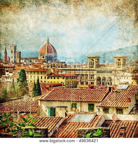 Florence - retro style picture